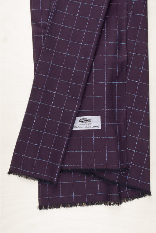 ADDeertz cotton scarf bordeaux checkers