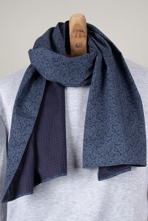 Beacon Scarf (Blue Paisley)