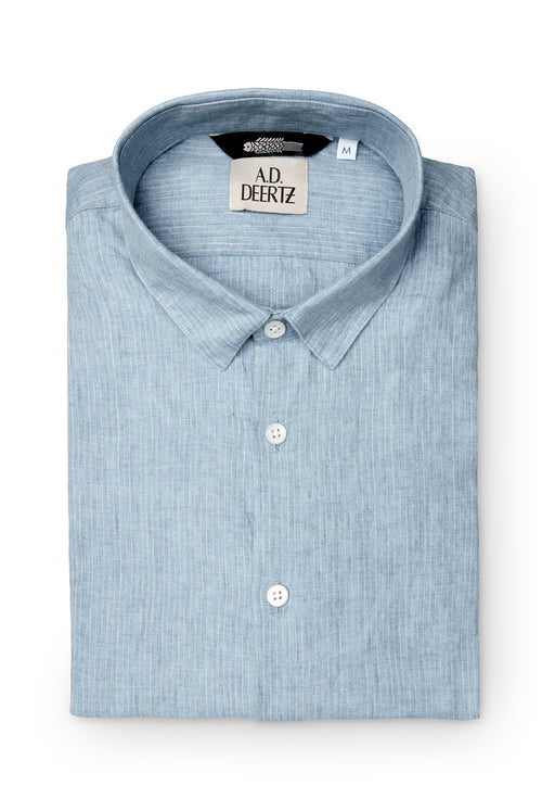 Adige Shirt (Blue Pinstripes)