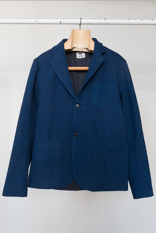 addeertz navy and blue  weave blazer
