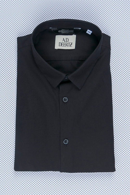addeertz straight fit shirt cotton black