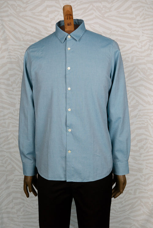 addeertz straight fit Light green oxford weave from Italy