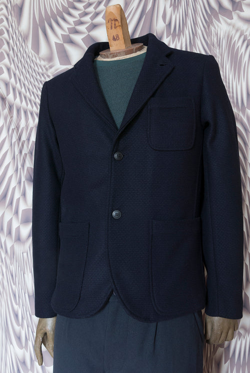 addeertz navy wool blazer