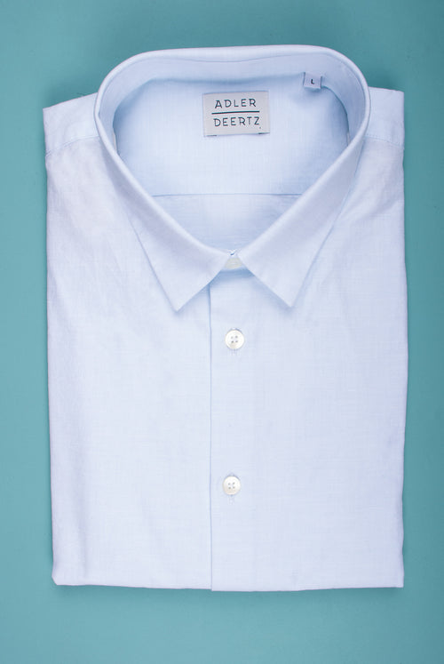 A.D.Deerttz Straight fit shirt in light summer fabric inlight blue