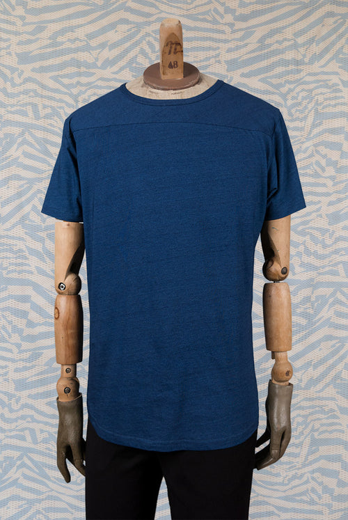 Indigo T-Shirt No shoulder seams Rounded hem 100% Cotton