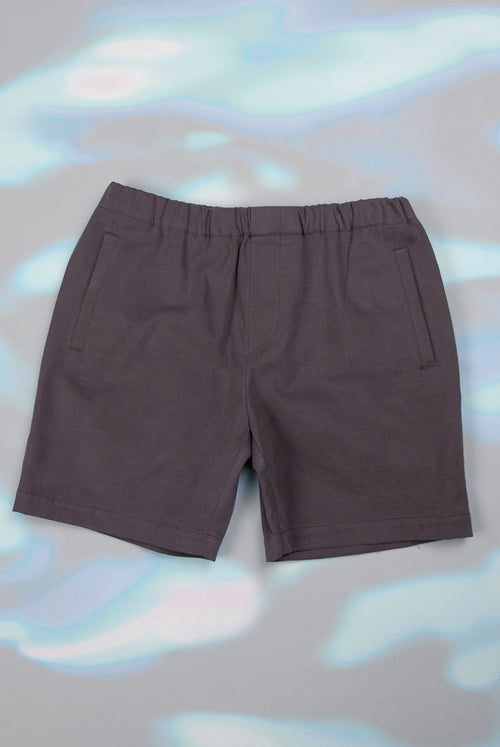 addeertz draw string shorts aubergine cotton