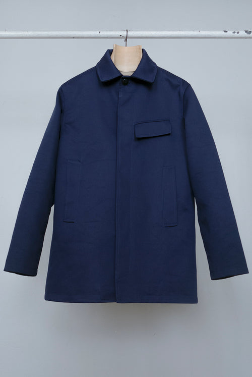 addeertz marine coat style cotton midnight blue