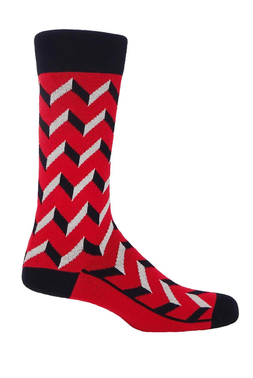 Peper Harow Socks (optical scarlet)