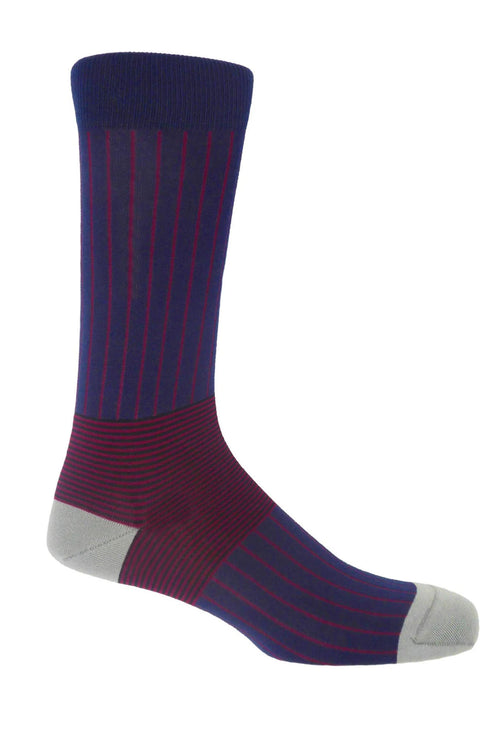 Peper Harow Socks (Oxford Stripe Navy)