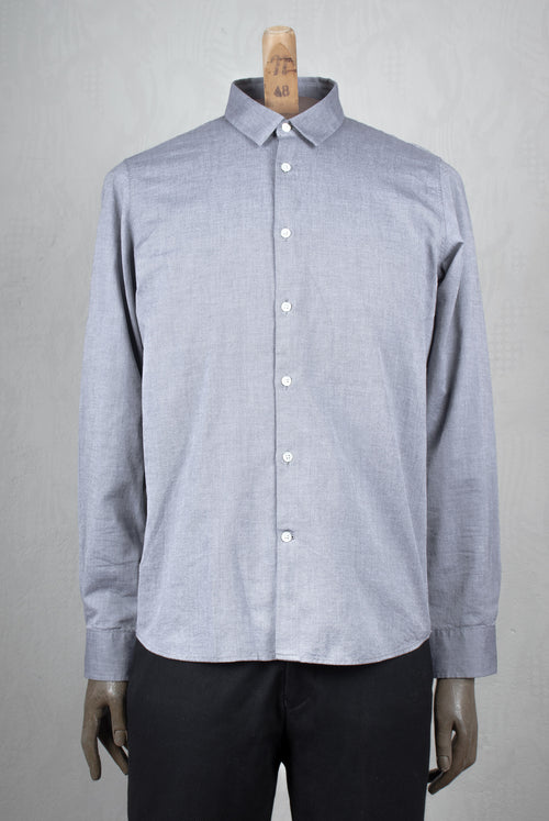A.D.Deerttz Straight fit shirt in light weight fabric light grey