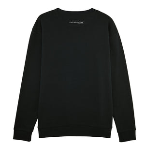 BLACK PRINTED LUXURY DESIGNER SWEATSHIRT FOR WOMEN - oneoffcouture