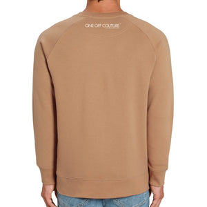 BEIGE LUXURY DESIGNER GRAPHIC SWEATSHIRT FOR MEN - oneoffcouture