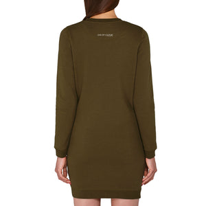 GREEN MONA LUXURY DESIGNER JERSEY DRESS FOR WOMEN - oneoffcouture