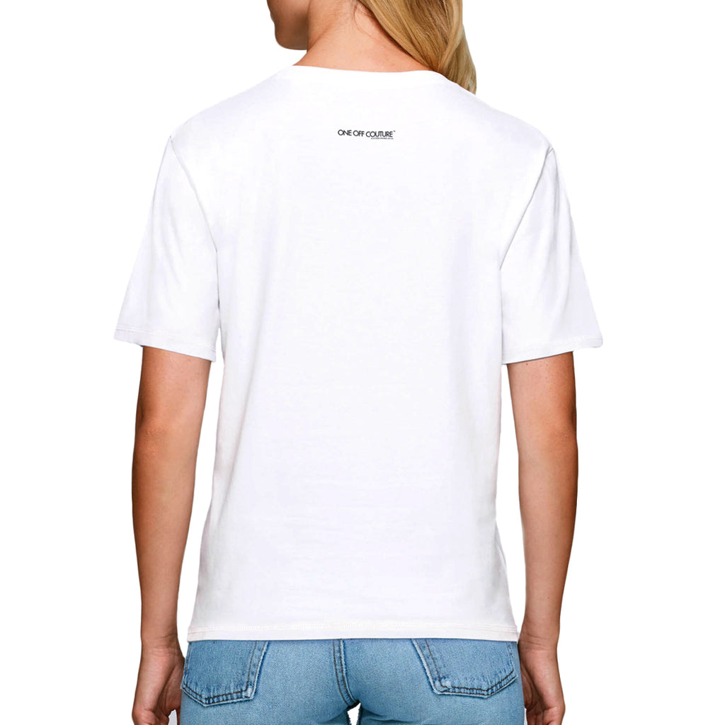 WHITE MEDUSA DESIGNER GRAPHIC T-SHIRT FOR WOMEN - oneoffcouture