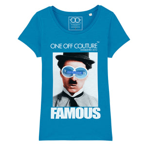 CHAPLIN LUXURY DESIGNER GRAPHIC T-SHIRT FOR WOMEN - oneoffcouture