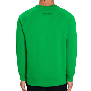GREEN ABSTRACT LUXURY DESIGNER GRAPHIC SWEATSHIRT FOR MEN - oneoffcouture