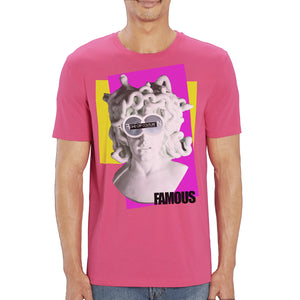 PINK MEDUSA LUXURY DESIGNER GRAPHIC T-SHIRT FOR MEN - oneoffcouture