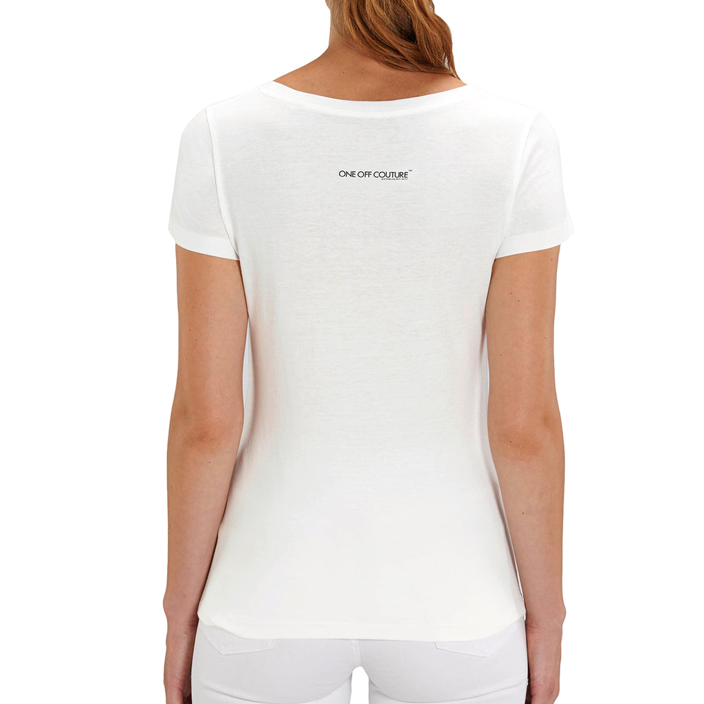 WHITE MARILYN MONROE LUXURY DESIGNER GRAPHIC T-SHIRT FOR WOMEN - oneoffcouture