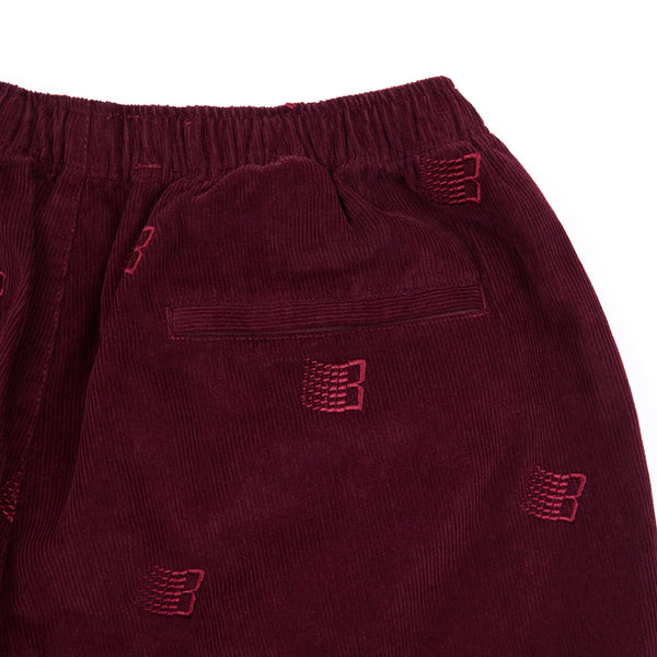 EMBROIDERED SYNCH CORDS MAROON