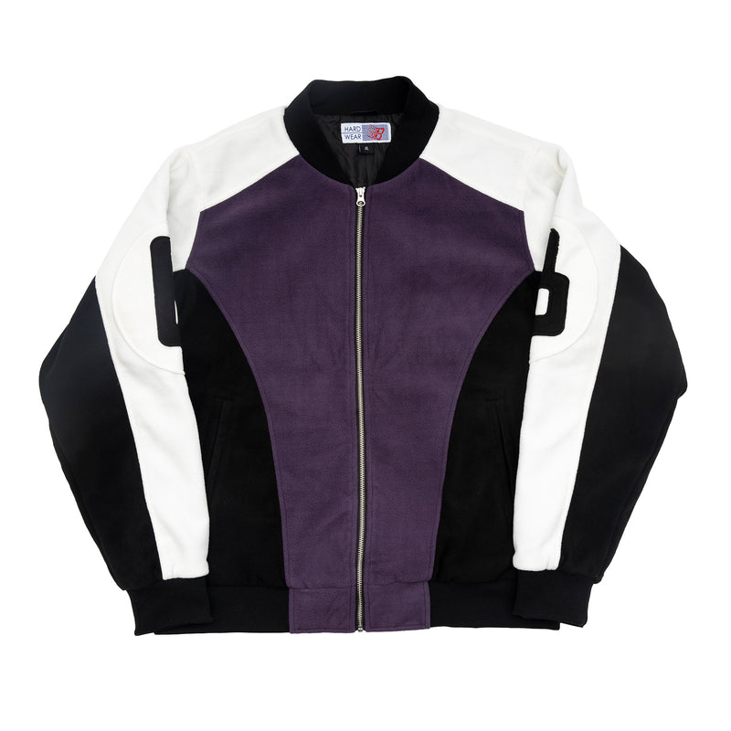 B BALL FLEECE BOMBER PURPLE