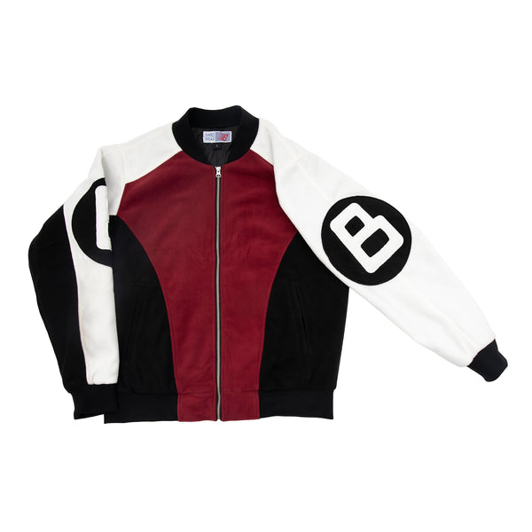 B BALL FLEECE BOMBER RED