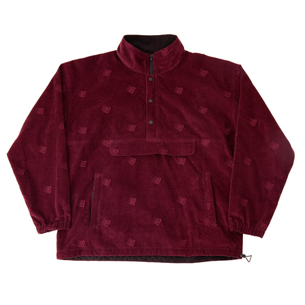 ALL OVER EMBROIDERED ANORAK MAROON