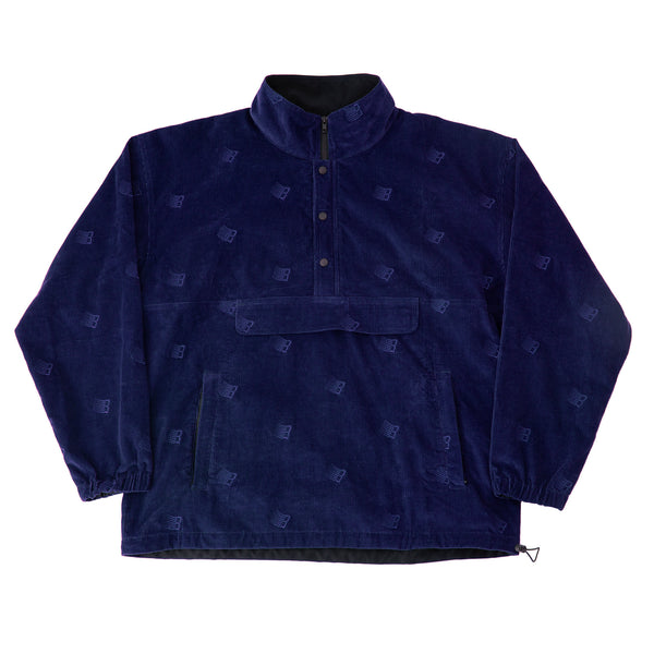 ALL OVER EMBROIDERED ANORAK NAVY