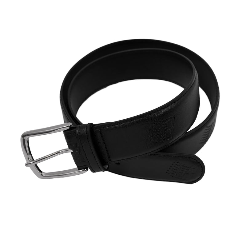 LOGO LEATHER BELT BLACK