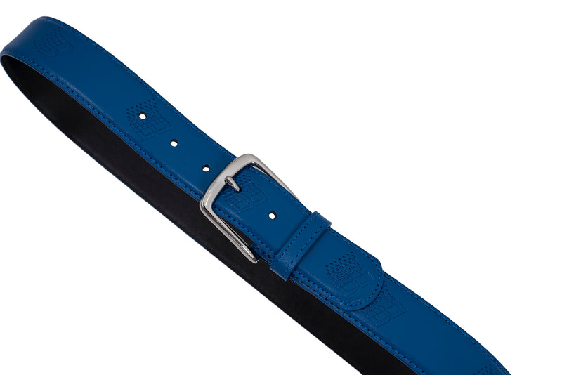 LOGO LEATHER BELT BLUE