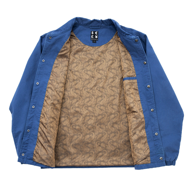 WEED FINGER COACH JACKET BLUE