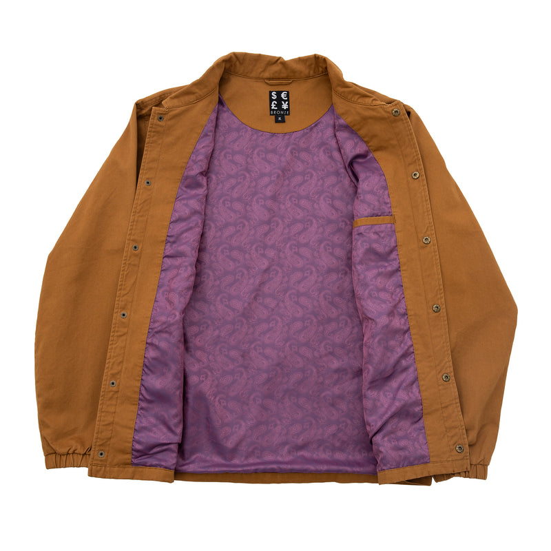 WEED FINGER COACH JACKET HASHBROWN