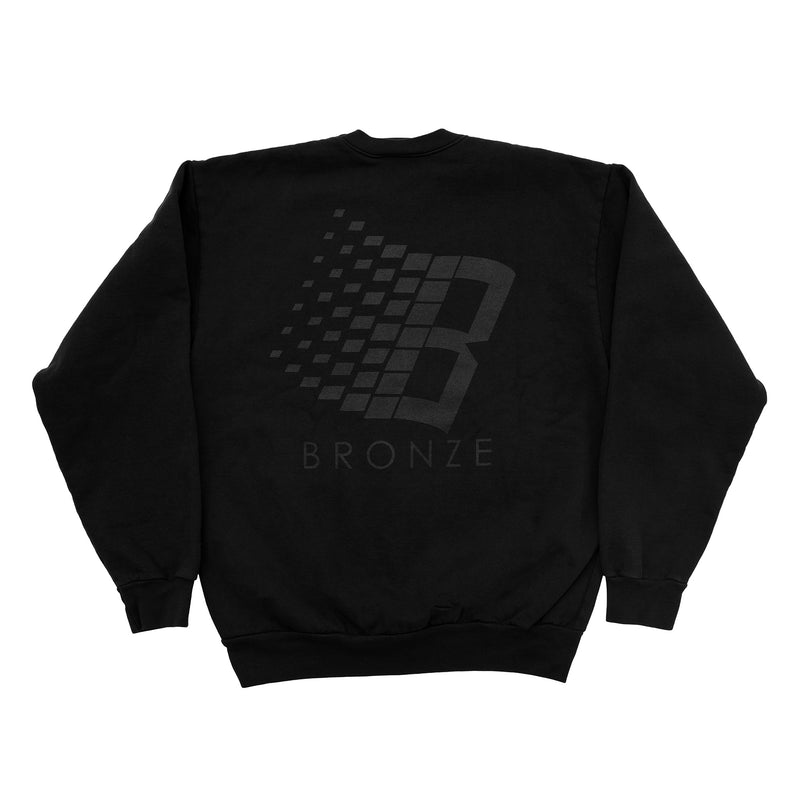 B LOGO CREWNECK OFF BLACK