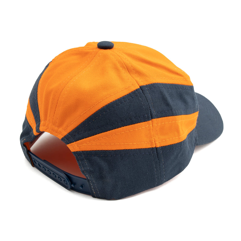 SPORTS SNAPBACK HAT ORANGE/NAVY