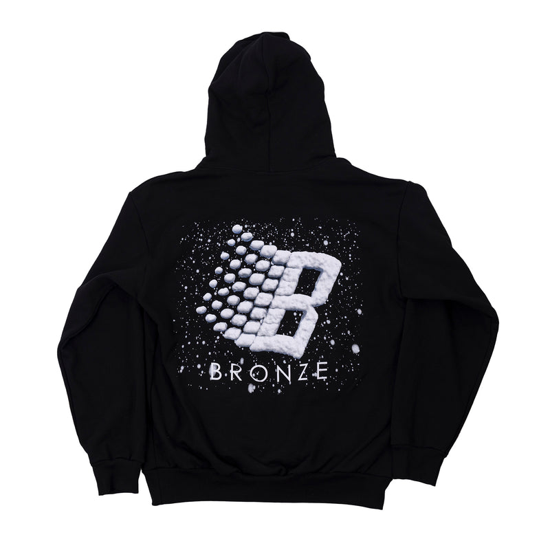 LOGO SNOW HOODY BLACK