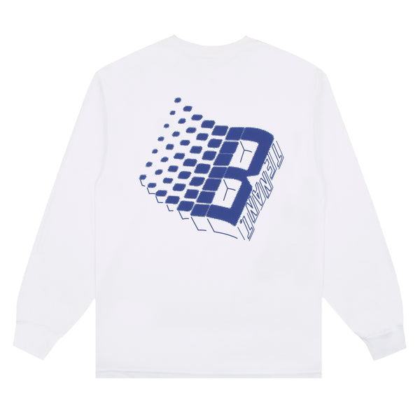 BRONZE56K X TENANT NY LOGO LONG SLEEVE WHITE