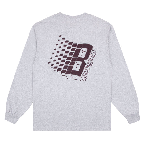 BRONZE56K X TENANT NY LOGO LONG SLEEVE HEATHER GREY