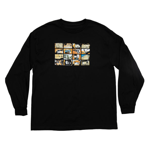 CONTRABAND L/S TEE BLACK