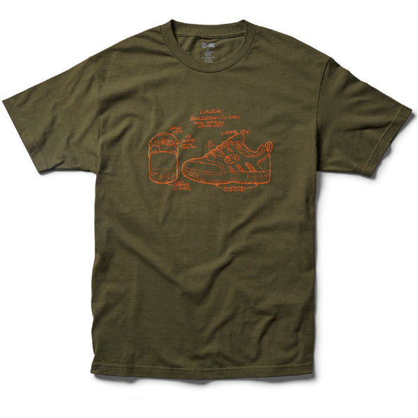 DC X BRONZE56K TEE MILITARY GREEN