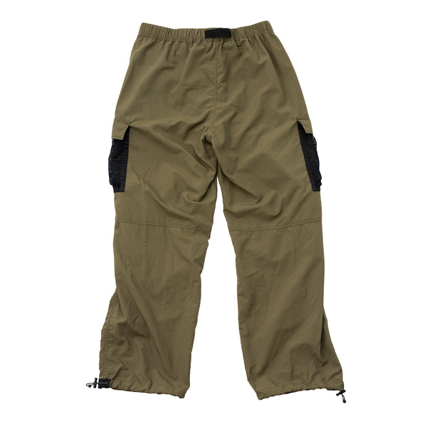 MESH POCKET CARGO PANTS OLIVE