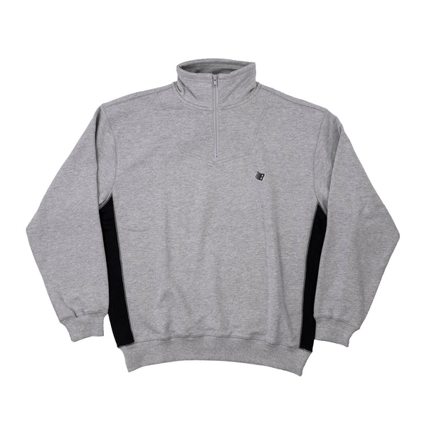 MICRODOSE 1/4 ZIP HEATHER GREY/BLACK