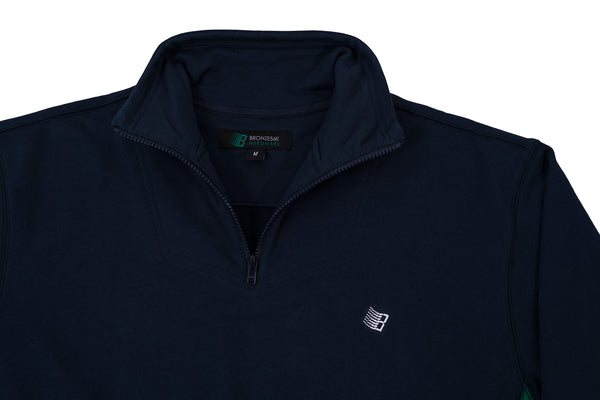 MICRODOSE 1/4 ZIP NAVY/GREEN