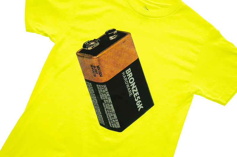 BATTERY TEE SAFETY GREEN