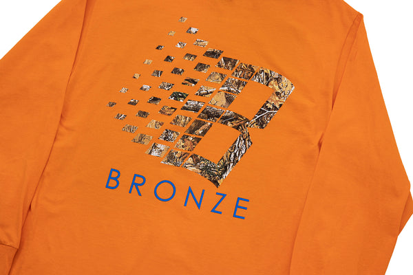 B LOGO BUCK HUNTER TREE L/S ORANGE