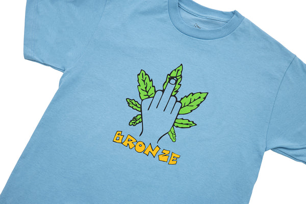 WEED FINGER TEE CAROLINA BLUE
