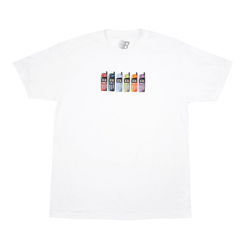 BURNER PHONE TEE WHITE