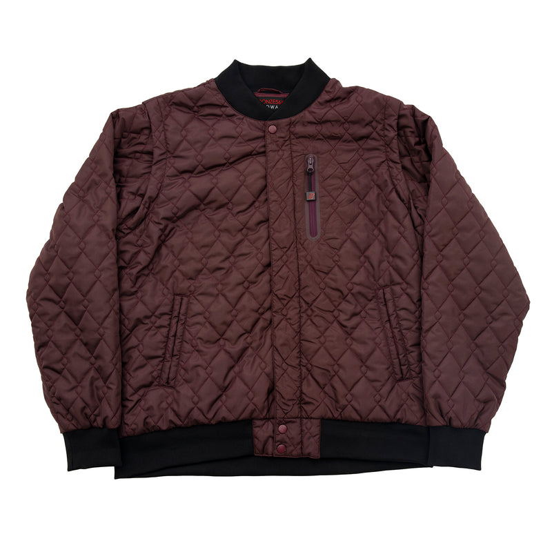 HARDWARE BOMBER JACKET WINE