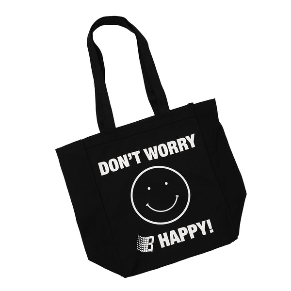 DONT WORRY B HAPPY TOTE BAG