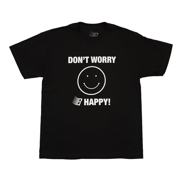 DONT WORRY B HAPPY TEE BLACK