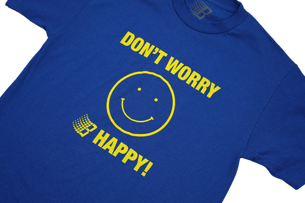 DONT WORRY B HAPPY TEE ROYAL