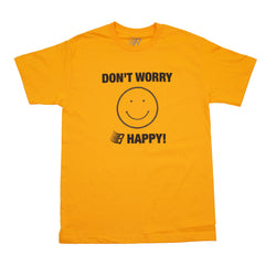 DONT WORRY B HAPPY GOLD